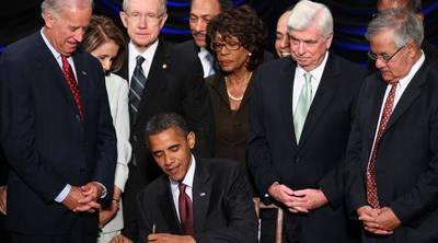 President Obama Signs Finance Reform Bill Into Law.