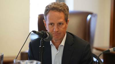Former Treasury Secretary, Timothy Geithner.