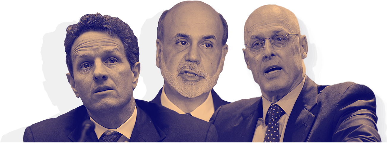 Image result for bernanke, paulson and geithner as three stooges of finance